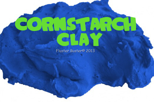 Cornstarch Clay a simple DIY project that the whole family will enjoy playing with.