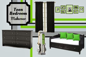 Bedroom Design: Teen Boys #Xbox Inspired Room Makeover