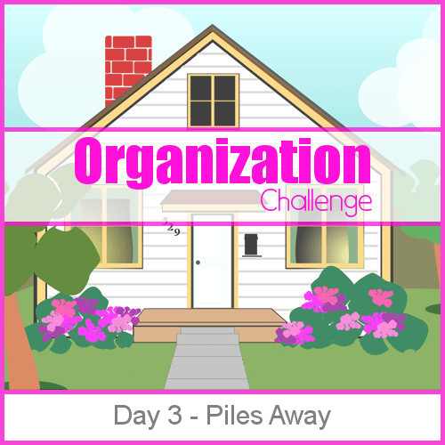 Day 3 Piles Away - 28 days of organizing tips, tricks and tools that will keep you from being a slave to your home while bringing joy back into your life.