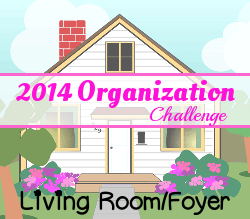 Home Organization Challenge: Day 24 – Living Room/Foyer