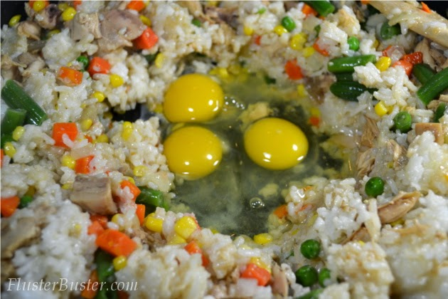 Easy Chicken Fried Rice (Feed 4 for $4.91)