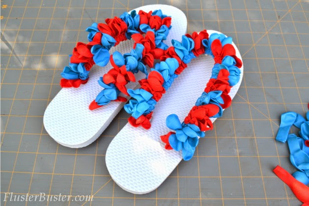 d3a63e86d8281c Water Balloon Flip Flops - a fun DIY project using inexpensive items found  at the dollar