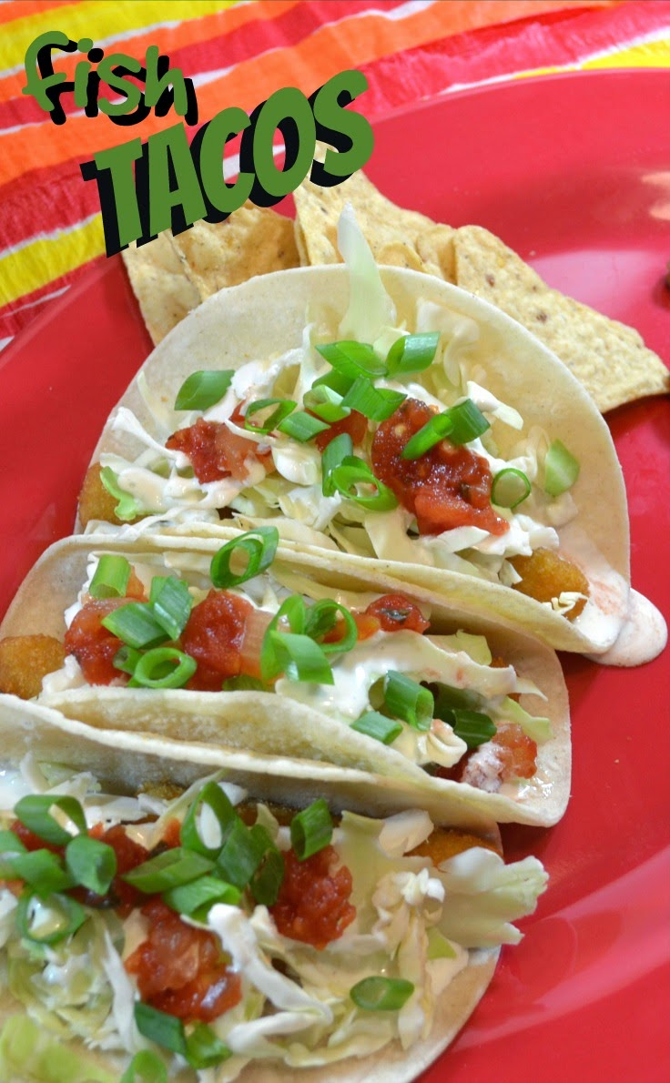 Simple Fish Tacos served with pinto beans and homemade tortilla chips can feed your family of 4 for around $5.00.