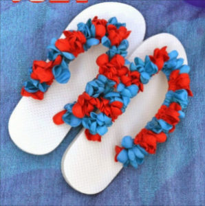 Water Balloon Flip Flops - a fun DIY project using inexpensive items found at the dollar store.