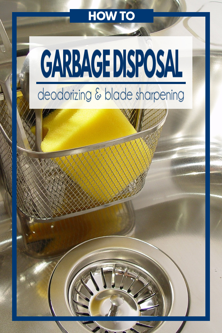 A simple and effective household tip on how to naturally deodorize your garbage disposal while sharpening the blades at the same time.