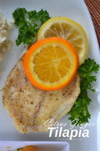 Feed 4 for 5: Baked Citrus Ginger Tilapia