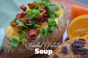Easy Loaded Potato Soup (Feed 4 for $4.28)