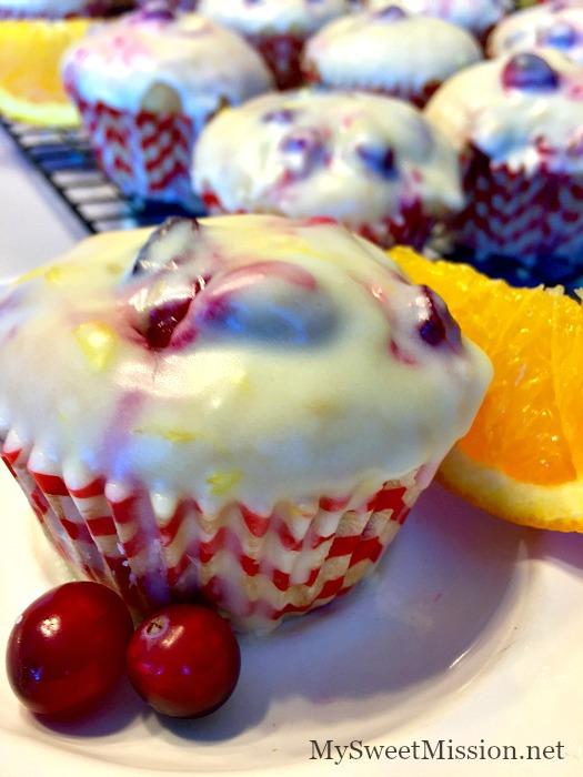 Glazed Cranberry Orange Muffins - Great Ideas | My Sweet Mission