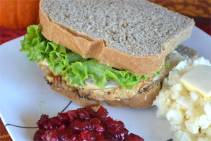 Turkey Sandwiches on Homemade Stuffing Bread - Leftover Turkey Recipes | Fluster Buster