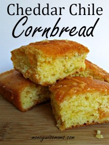 Great Idea - Cheddar Chile Cornbread from Moneywise Moms