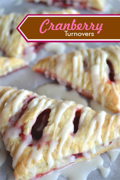 Cranberry Turnovers - Puff Pastry Recipe