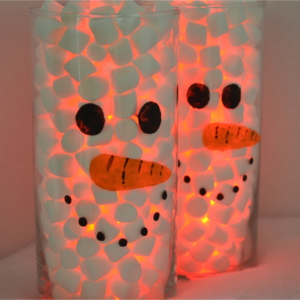 Christmas Crafts: Lighted Snowman Vases & Giving Christmas