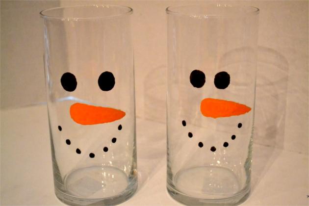 Lighted Marshmallow Snowman Vase - Christmas Craft | Fluster Buster