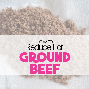 Reducing the Fat in Ground Beef