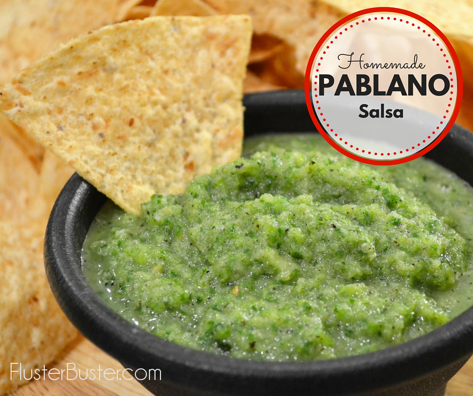 Spicy, delicious and a nice change from plain ole' salsa. This homemade Pablanos salsa is packed full of flavor, with the hint of something a little unusual.