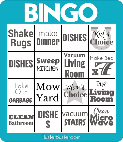 Chore Bingo Cards (filled)