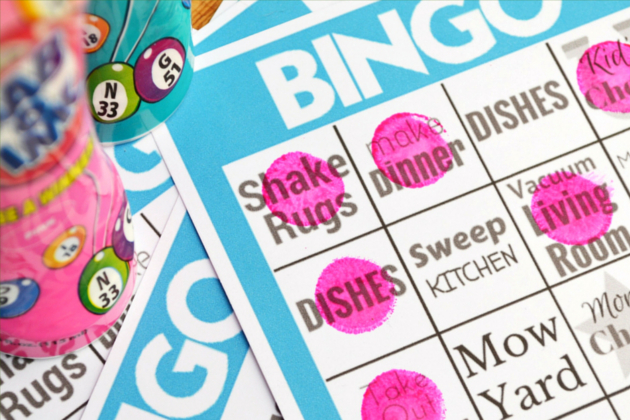 Chores Bingo - Adding fun to chore time is the key to less drama, more getting done and not having to micromanage the little angels.