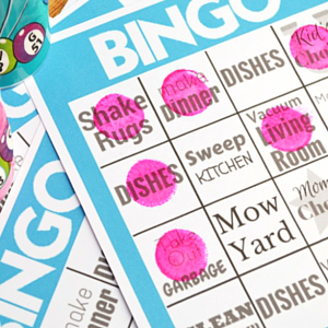 Chores Bingo - Getting more done by adding a little fun.