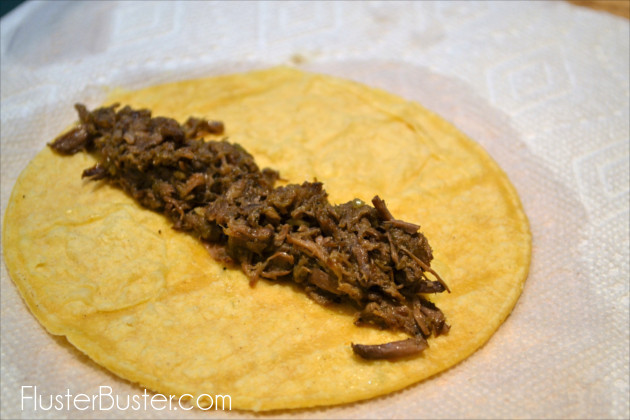 Taquitos - Rolled corn tortillas, filled with leftover chicken, beef or pork and fried until crisp. Serve as a main dish, side dish or appetizer.