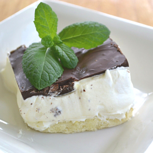 Chocolate Eclair Dessert: A dreamy, creamy, simple recipe that delights. Layered with sponge cake, a light and smooth custard and topped with chocolate.