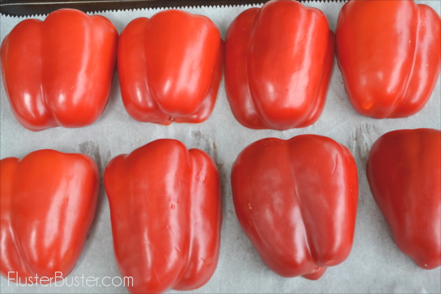 Roasting red peppers is super easy to do and they add such great flavor to many dishes. Roasting them brings out their natural sweetness and the bit of charring that remains adds a really unique flavor.
