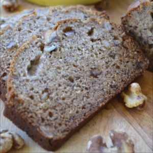 All time family favorite, Banana Nut Bread. Not just any banana nut bread though, it's grandma's old fashioned Banana Nut Bread. It's comfort food at it's best, moist, warm and bursting with banana flavor.