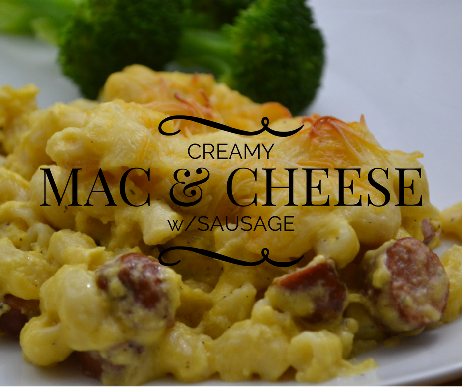Super creamy mac & cheese is so cheesy and delicious. Serve as side dish or add sausage and serve as main dish. Simpe recipes and kid favorite #mommymeals.