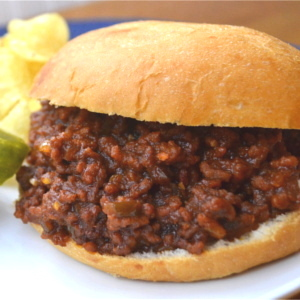 Tasty Sloppy Joe's, also known in our house as kidwiches. This simple recipe can be made in less than 30 minutes which is a big plus for busy moms. Another big plus is that kids love the taste and they especially love that they don't need a fork to eat it. Anytime you serve a meal that kids can eat with her hands it's sure to be a winner. #mommymeals