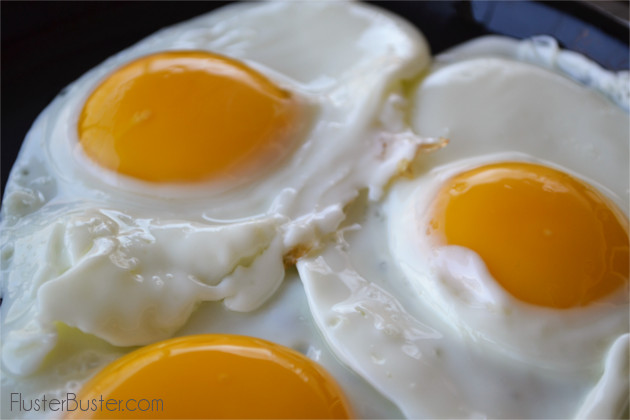 Perfect Sunny Side Up Eggs. An egg that is slowly fried and basted, where the whites are set and the yolk is golden and runny. A simple recipe that makes a big impression.
