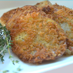 Fried Green Tomatoes – w/Thyme Dip
