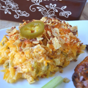 A simple potato casserole with a Mexican twist