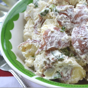 Salad Recipes – Red, White & Blue Potato Salad