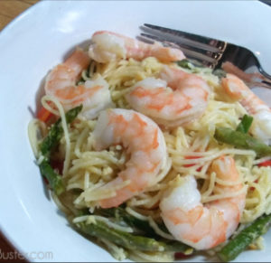 This simple shrimp and asparagus pasta recipe is easy, delicious, and can be on the table in as little as 15-minutes.