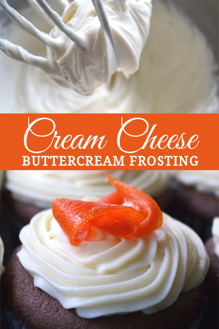 Cream Cheese Butter Cream frosting: simple, tangy, not-to-sweet, light & fluffy, sturdy enough for piping.