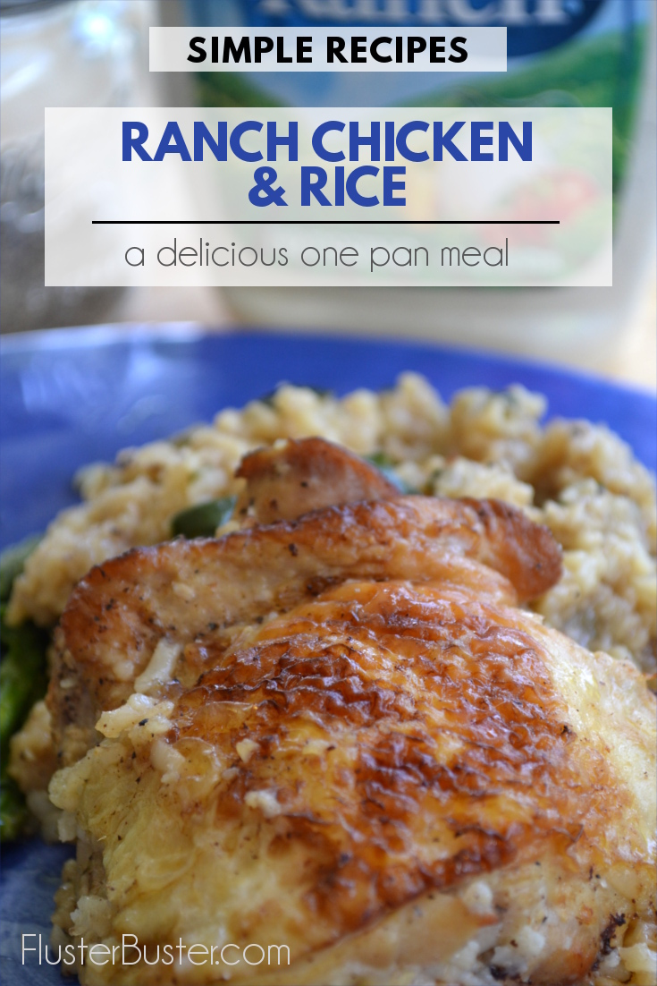 Ranch Chicken & Rice: A simple recipe that can be made using just one pan, making clean up a breeze.