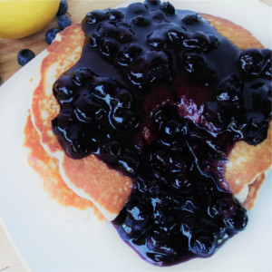 This simple blueberry sauce recipe can be made in less than 10 minutes, using fresh blueberries.