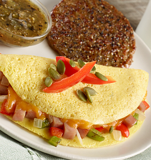 Personal Trainer Food - Western Omelet & Maple Sausage