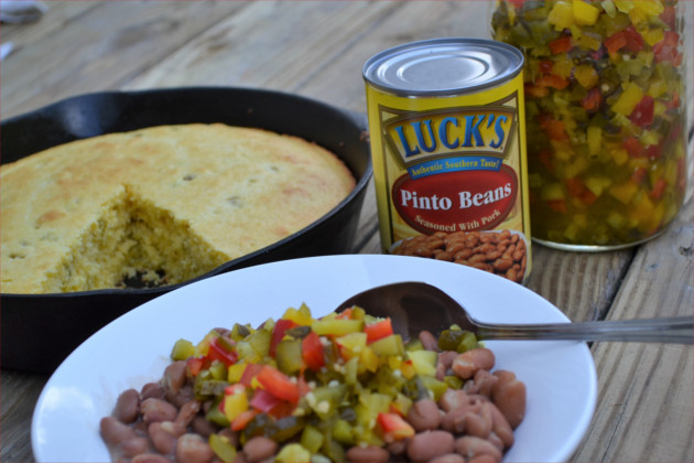 Luck's Beans & Hot Mix - a simple authentic southern recipe that's easy & convenient and has a flavorful kick.