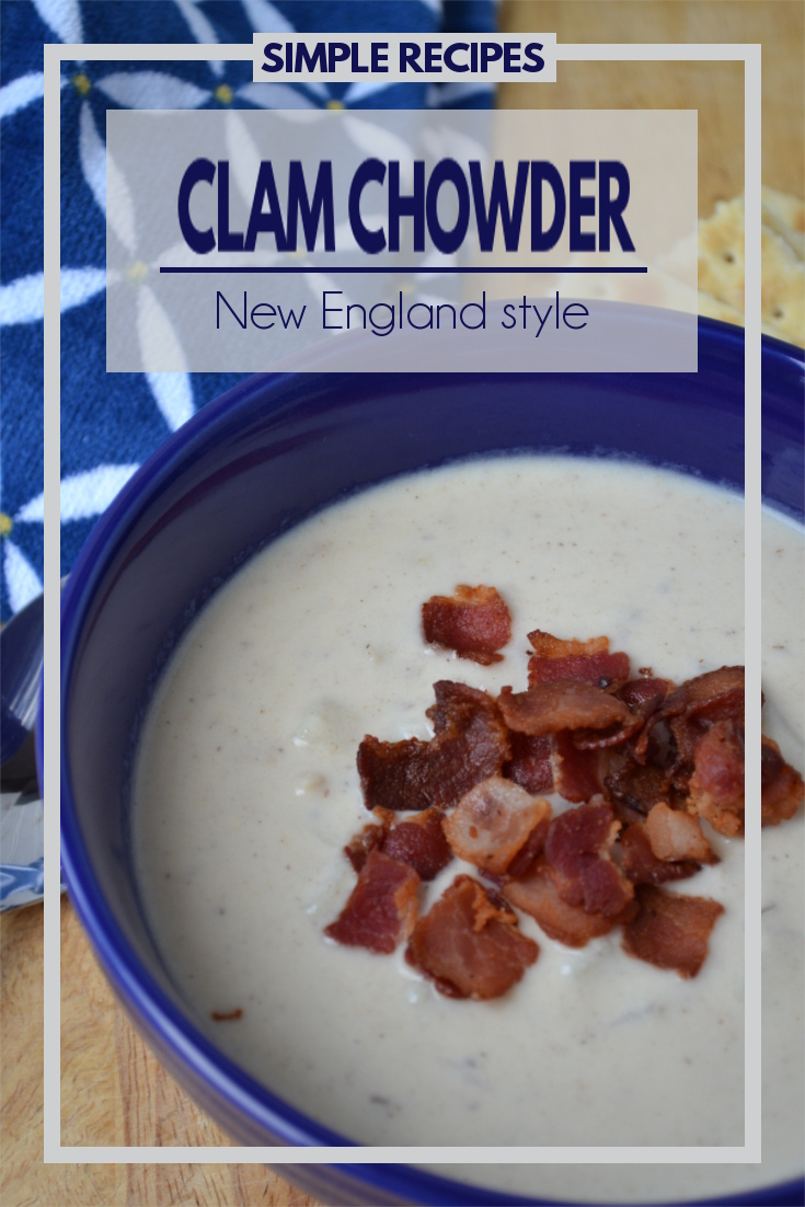 New England Clam Chowder - A thick, creamy soup perfectly seasoned with chunks of potatoes and small bits of clams. It has a nice smokey flavor and surprisingly doesn't have a strong fish flavor.