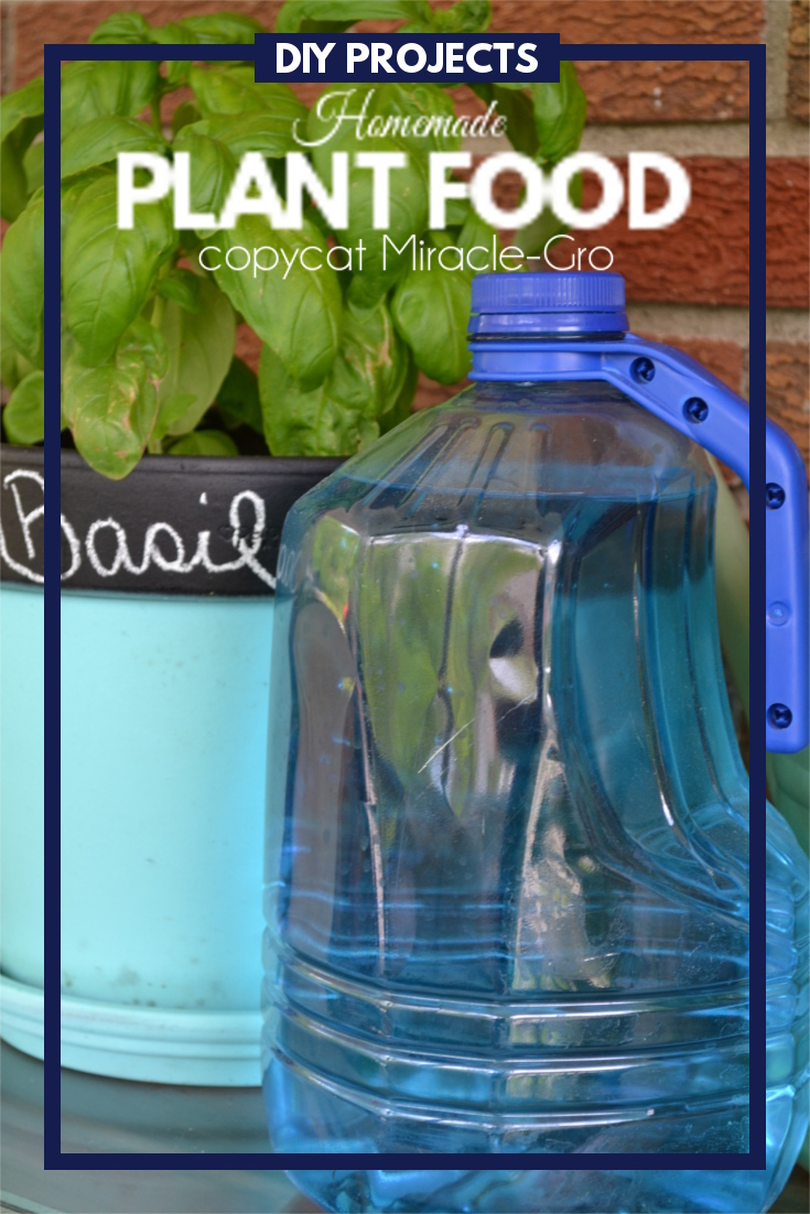 This Homemade Plant Food is a simple DIY project that only takes a couple of minutes and a few common ingredients all of which will produce some really lush plants.