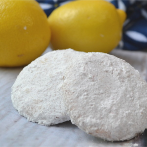 Zesty lemon cookies covered in a sweet lemon powder create the most intense, delicious lemon flavor. A simple recipe that the lemon lovers in your life are going to go crazy over.
