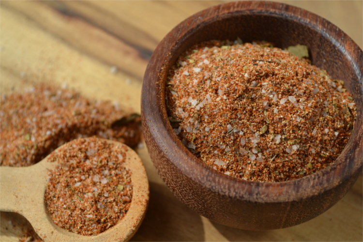 A simple blend of herbs and spices that have a sweet and smokey flavor with a touch of heat.