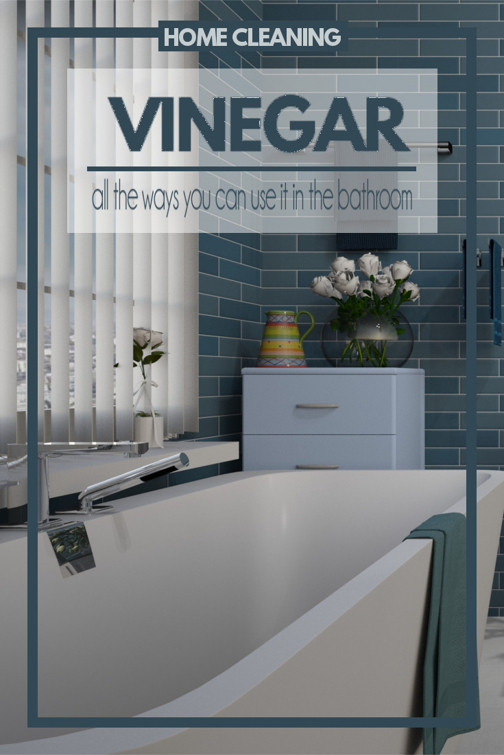 Distilled white vinegar is a natural way to disinfect and clean your home. It's amazing all of the things that it can clean,especially in the bathroom.