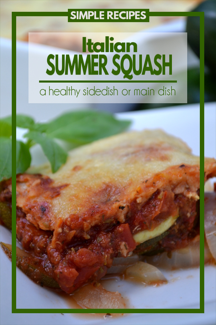 Italian Squash Casserole - a simple, healthy Italian dish that can be served as either a main dish or a side dish