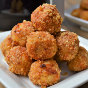 Healthy Air Fryer Low Carb Parmesan Chicken Meatballs
