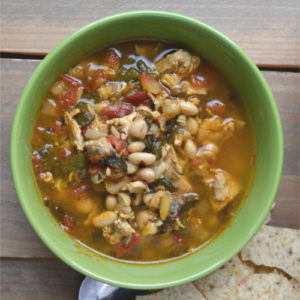 Pressure Cooker Turkey, Bean and Green Chile Stew