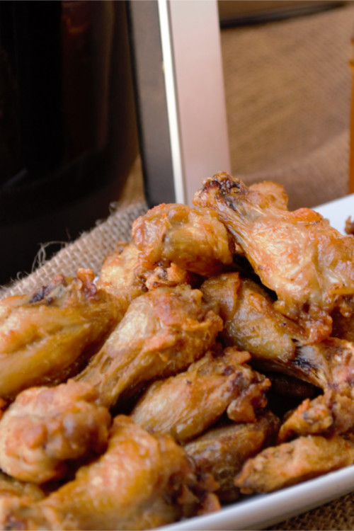 Air Fryer Chicken Wings – quick and simple, extra crispy, finger licking good, tastes as good as fried without all of the guilt.