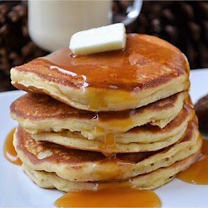 A simple recipe that has a sweet and rich eggnog flavor with a nice frothy texture. Pour over pancakes, waffles, ice cream, oatmeal or in coffee.