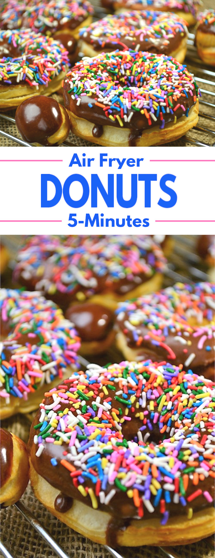 5 Minute Air Fryer Donuts - A simple recipe for a favorite treat that can be made in just 5 minutes.