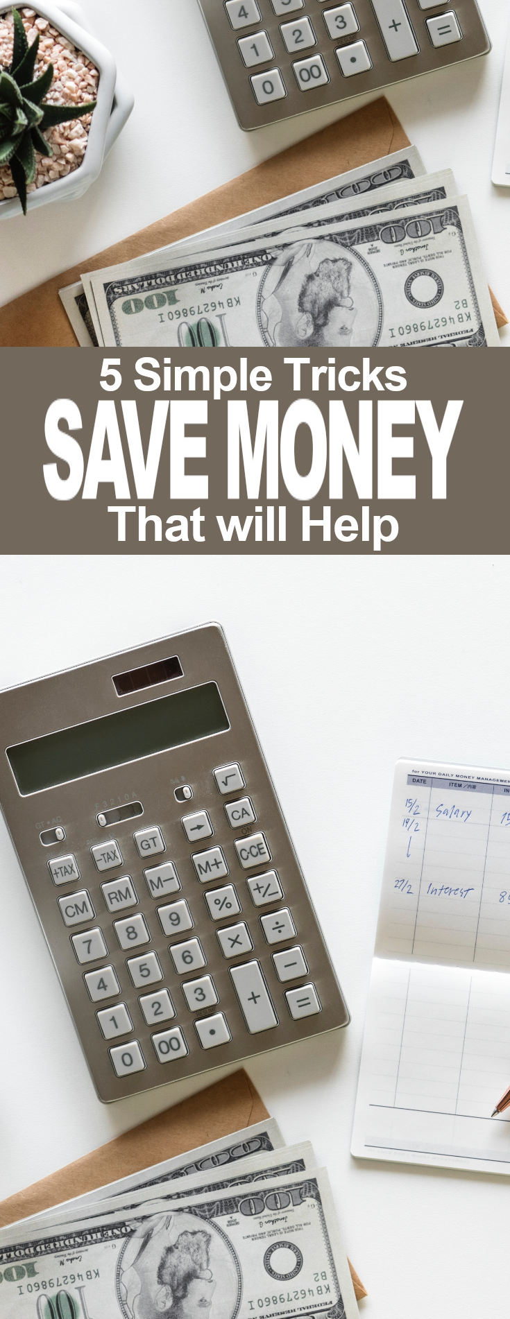 Five Simple Tricks to Help You Save More Money- A Hippy and a Redneck Keep reading to learn my five simple tricks to help you save more money… no matter how much you make. | Budget | Money | Savings | Homemaking | Finance | #budget #money #savings #homemaking #finance #nestegg #budgeting #moneymatters #savingmoney #moneyandfinance #homemaking #homesteading #grocerybudget #moneysavingtips #ahippyandaredneck